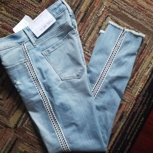 AEO Stripped Embellished Jeans